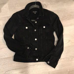 JCREW Mercantile black denim jacket XXS